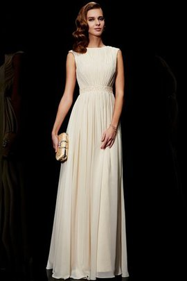 Floor Length A-Line Beading Empire Waist Evening Dress