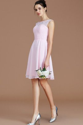 Sleeveless Bateau A-Line Zipper Up Short Bridesmaid Dress