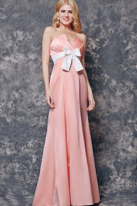 Elegant & Luxurious Sleeveless Bow Strapless Long Bridesmaid Dress