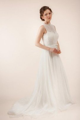 Long Floor Length Hall Sheer Back Misses Wedding Dress