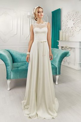 Sweep Train Bow High Neck Sleeveless Jewel Wedding Dress