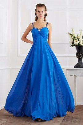 Floor Length Long Chiffon Beading Appliques Prom Dress