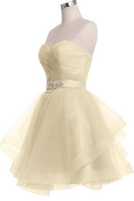 Tulle Zipper Up Natural Waist A-Line Sweetheart Homecoming Dress