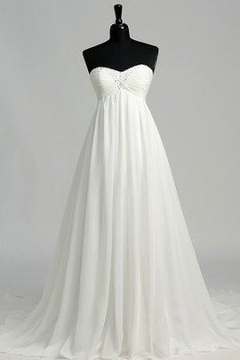 Sweetheart Sexy A-Line Beach Criss-Cross Wedding Dress