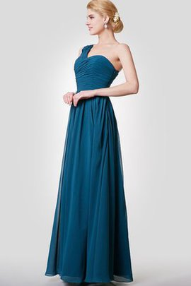 Floor Length Sleeveless Pleated Simple Ruched Bridesmaid Dress