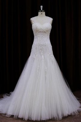 Apple Hourglass Crystal No Waist Tulle Wedding Dress