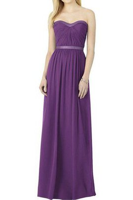 Chiffon Strapless A-Line Ruched Floor Length Bridesmaid Dress