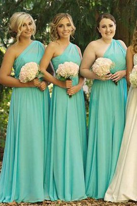 Chiffon Zipper Up Natural Waist Sleeveless Long Bridesmaid Dress
