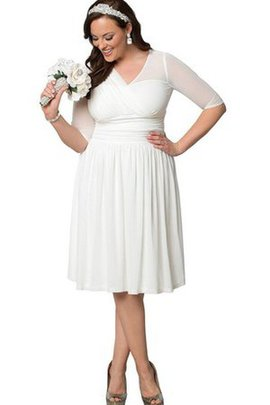 Simple Criss-Cross A-Line Plus Size Chiffon Wedding Dress