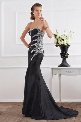 Mermaid Sweetheart Sleeveless Beading Long Evening Dress