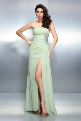 Chiffon Sleeveless Draped A-Line Evening Dress