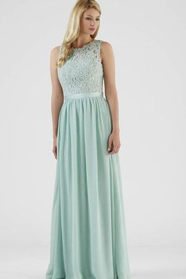Jewel Chiffon Pleated A-Line Lace Bridesmaid Dress