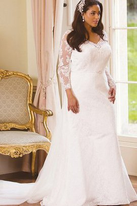 Tulle Simple A-Line Plus Size Elegant & Luxurious Wedding Dress