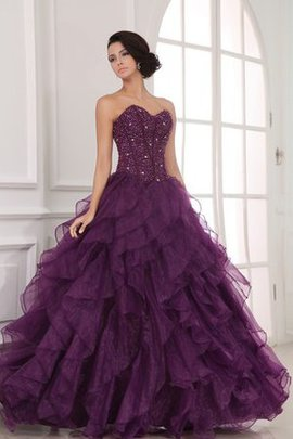 Organza Beading A-Line Ruffles Sweetheart Dressed In 16 Years