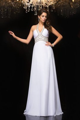 Chiffon Long Princess Halter Empire Waist Prom Dress