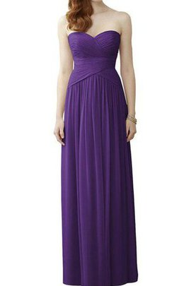 Chiffon Ruched Sweetheart Zipper Up A-Line Bridesmaid Dress