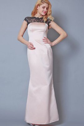 Sheath Lace Elegant & Luxurious Capped Sleeves Simple Bridesmaid Dress