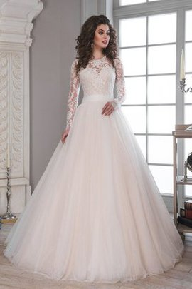 Sashes Sweep Train Lace Fabric Button Wedding Dress