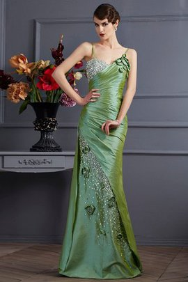 Sleeveless Mermaid Natural Waist Floor Length Beading Prom Dress