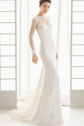 Long Sleeves Sexy Sheer Back Floor Length Rectangle Wedding Dress