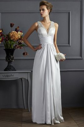 Silk Like Satin Sleeveless A-Line Spaghetti Straps Prom Dress