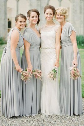 Sleeveless Chiffon Floor Length A-Line Bridesmaid Dress