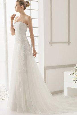 Zipper Up Floor Length Hall A-Line Misses Wedding Dress
