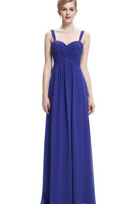 Floor Length Sweetheart Sleeveless Empire Waist Chiffon Bridesmaid Dress