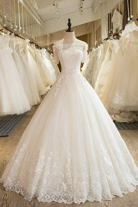 Floor Length Charming Lace-up Elegant & Luxurious Natural Waist Church Wedding Dress