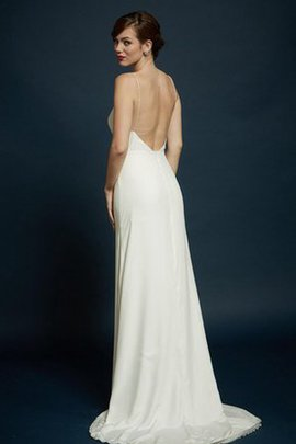Beach Sweep Train Elegant & Luxurious Simple Backless Wedding Dress