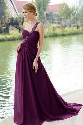 Spaghetti Straps Chiffon Backless Flowers Floor Length Evening Dress
