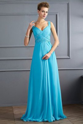Floor Length Sleeveless Princess Zipper Up Pleated Prom Dress