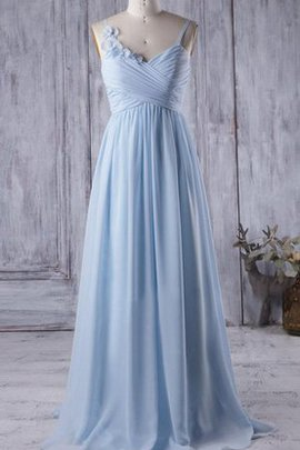 Floor Length Sleeveless A-Line Chiffon Long Bridesmaid Dress