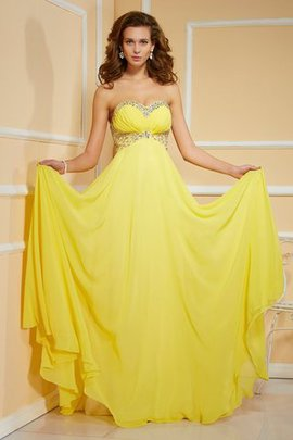 Ruffles Ruched Sweetheart Floor Length Empire Waist Prom Dress