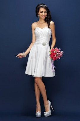 Sleeveless Princess Sweetheart Draped Bridesmaid Dress