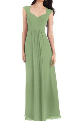 Floor Length Beautiful Chiffon Ruched Pretty A-Line Bridesmaid Dress