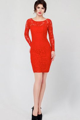 Chic & Modern Short Lace Long Sleeves Bateau Party Dress