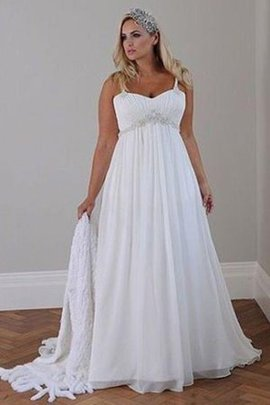Plus Size Vintage Beading Lace-up Elegant & Luxurious Wedding Dress