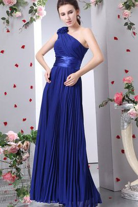 Ruched Chiffon Flowers Expensive Long Evening Dress
