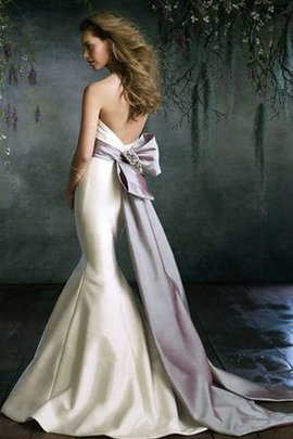 Ruched Sleeveless Sweetheart Mermaid Backless Wedding Dress