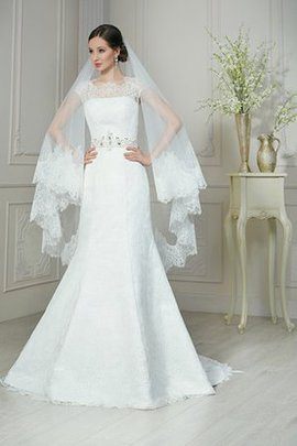 Lace-up Modest Floor Length Capped Sleeves Short Sleeves Wedding Dress