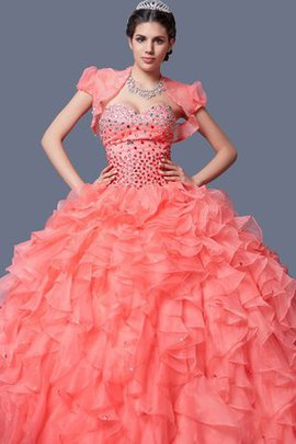 Sleeveless Organza Ball Gown Beading Floor Length Dressed In 16 Years