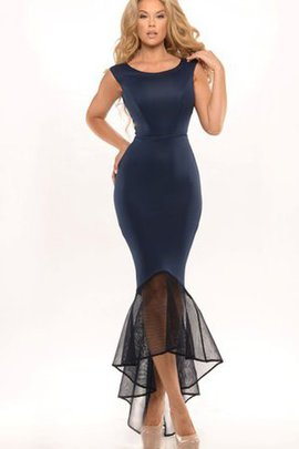 Ruffles Informal & Casual High Low Satin Elegant & Luxurious Evening Dress