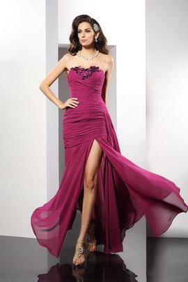 Beading Long Floor Length Natural Waist Sheath Evening Dress