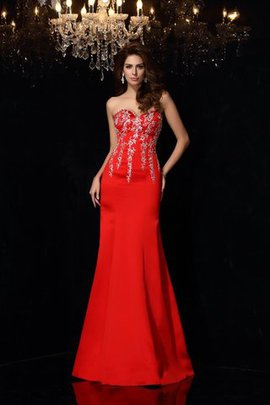 Floor Length Long Sleeveless Sweetheart Zipper Up Evening Dress