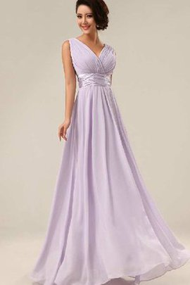 Zipper Up A-Line Floor Length Ruched Long Bridesmaid Dress