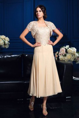 Chiffon Zipper Up Natural Waist A-Line Appliques Mother Of The Bride Dress