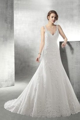 Lace Sleeveless Natural Waist Backless A-Line Wedding Dress