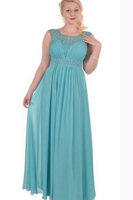 Chiffon Short Sleeves Jewel A-Line Floor Length Prom Dress
