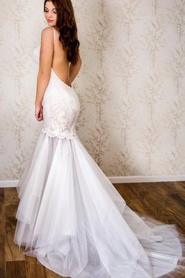 Deep V-Neck Tulle Backless Lace Fabric Sexy Wedding Dress